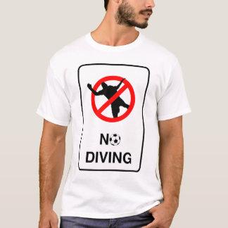 サッカーダイビングの印無し Tシャツ