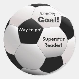 サッカーテーマの読書刺激のステッカー ラウンドシール