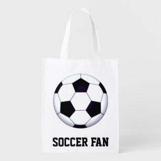 サッカーファンの再使用可能な買い物袋 エコバッグ