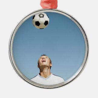サッカーヘッダー メタルオーナメント