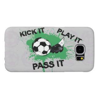 サッカーボールおよびブーツのデザイン SAMSUNG GALAXY S6 ケース