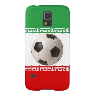 サッカーボールが付いているイランの旗 GALAXY S5 ケース