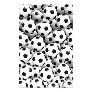 サッカーボールで満たされる 便箋