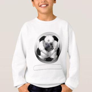 サッカーボールのどくろ印 スウェットシャツ