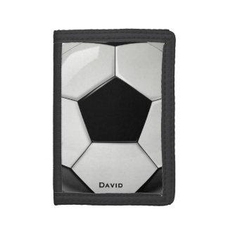 サッカーボールのカスタムの財布 ナイロン三つ折りウォレット