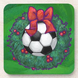 サッカーボールのクリスマス コースター