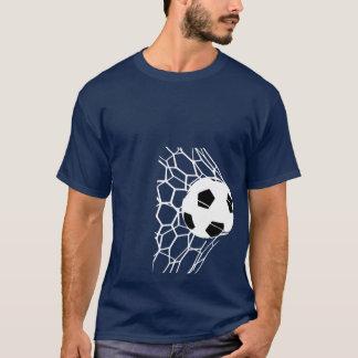 サッカーボールのゴールメンズティー10 Tシャツ
