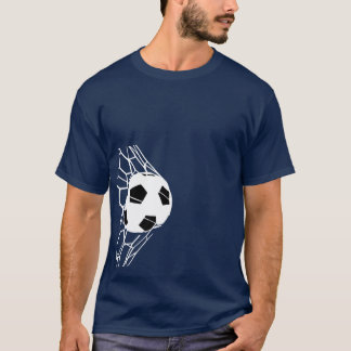 サッカーボールのゴールメンズティー9 Tシャツ