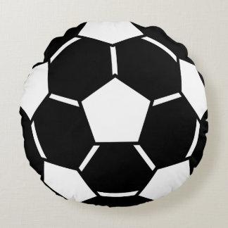 サッカーボールのスポーツチーム円形の枕習慣色 ラウンドクッション