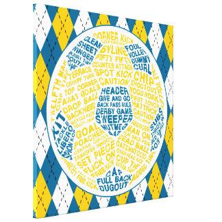 サッカーボールのタイポグラフィ箱のキャンバス キャンバスプリント