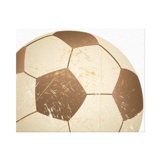 サッカーボールのヴィンテージ キャンバスプリント