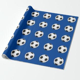 サッカーボールの包装紙 ラッピングペーパー