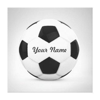 サッカーボールの名前入りな名前 キャンバスプリント