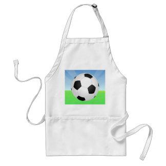 サッカーボールの晴れた日 スタンダードエプロン