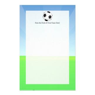 サッカーボールの晴れた日 便箋