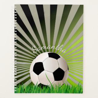 サッカーボールの週間か月例プランナー プランナー手帳