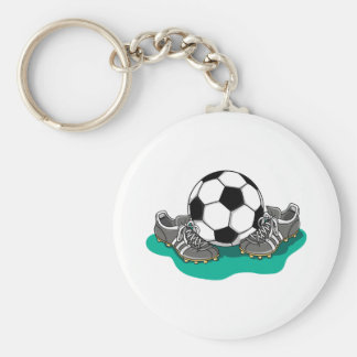 サッカーボールの靴 キーホルダー