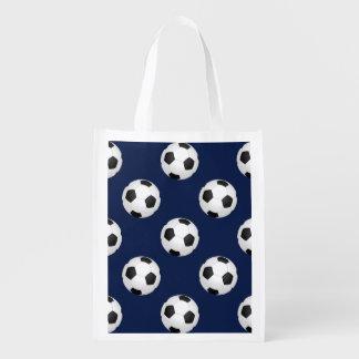 サッカーボールはパターンを遊ばします エコバッグ