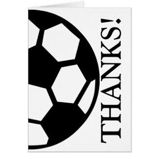 サッカーボールは感謝していしています ノートカード