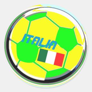 サッカーボールイタリア ラウンドシール