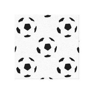 サッカーボールパターン キャンバスプリント