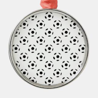 サッカーボールパターン メタルオーナメント