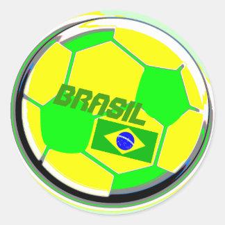 サッカーボールブラジル ラウンドシール
