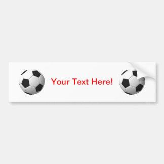 サッカーボール: バンパーステッカー