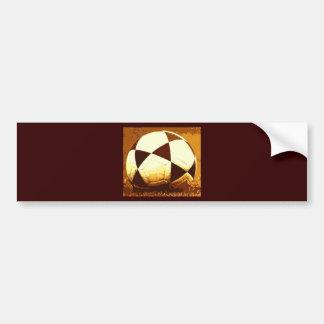 サッカーボール-フットボールの球 バンパーステッカー
