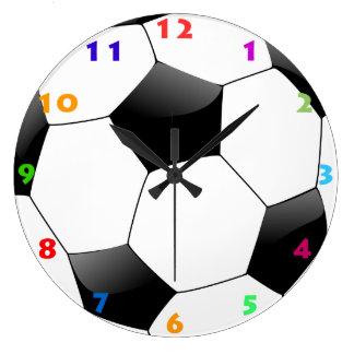 サッカーボール(フットボール)の柱時計 ラージ壁時計