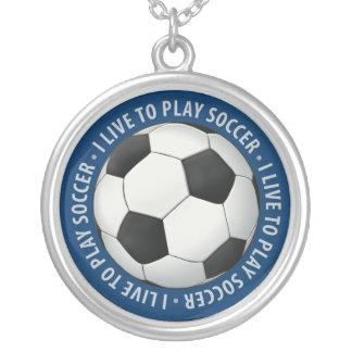 サッカーボール(フットボール) シルバープレートネックレス