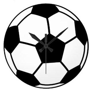 サッカーボール ラージ壁時計