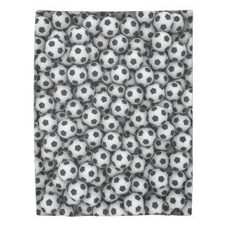 サッカーボール(側面1)の対の羽毛布団カバー 掛け布団カバー