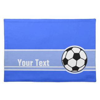 サッカーボール; 青い ランチョンマット