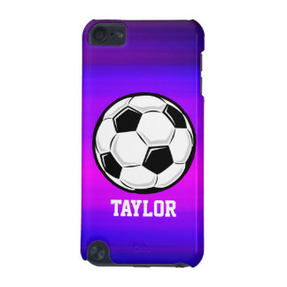 サッカーボール; 鮮やかなすみれ色の青およびマゼンタ iPod TOUCH 5G ケース