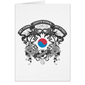 サッカー南朝鮮 カード
