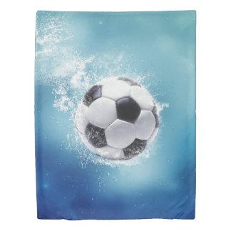サッカー水しぶき(側面1)の対の羽毛布団カバー 掛け布団カバー