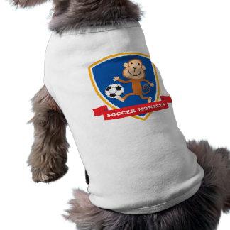 サッカー猿のマスコットのワイシャツ ペット服