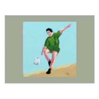 サッカー移動芸術 ポストカード