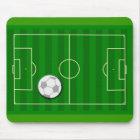 サッカー競技場および球 マウスパッド