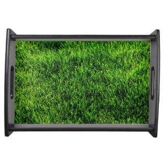 サッカー競技場からの芝生の質 トレー