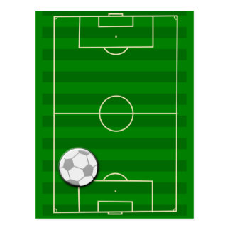 サッカー競技場のフットボール ポストカード