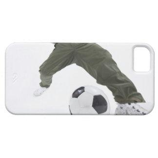 サッカー2を遊んでいる若者 iPhone SE/5/5s ケース