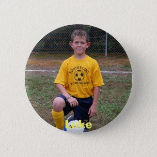 サッカー2006 001、ルーク 5.7CM 丸型バッジ