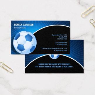 サッカー|のフットボールのスポーツコーチ 名刺