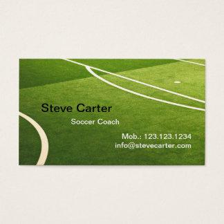 サッカー、フットボールのコーチまたはプレーヤーカード 名刺