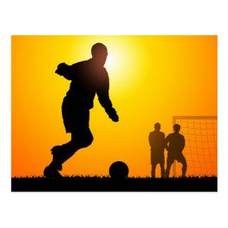 サッカー ポストカード