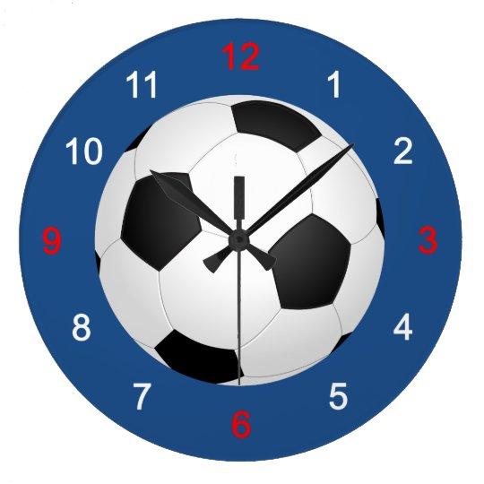 サッカー ラージ壁時計