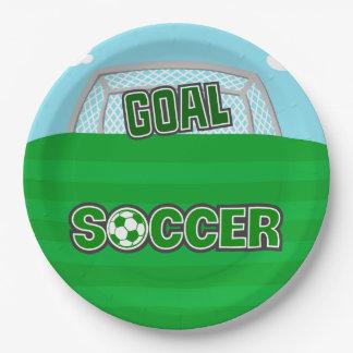 サッカー(緑) ペーパープレート