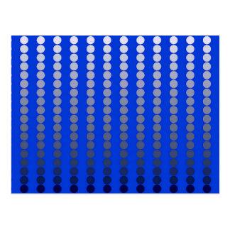 サテンの点-コバルトブルーおよびピューター ポストカード